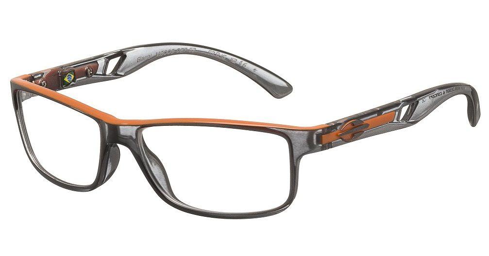 Armação Para Oculos De Grau Mormaii Glacial Cod. M6009D2753 Fumê Laranja