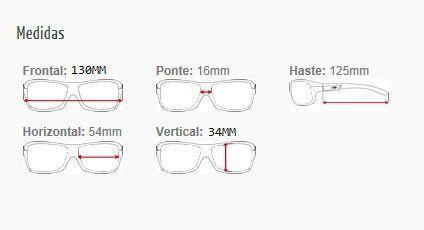 Armação Para Oculos de Grau Mormaii Itapua 122074750 Azul