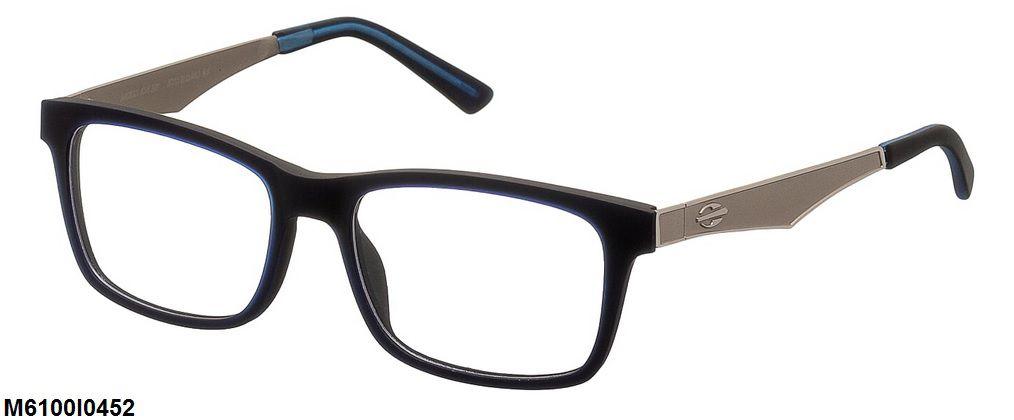 Armação Para Oculos De Grau Mormaii M6100 M6100I0452 Azul Preto