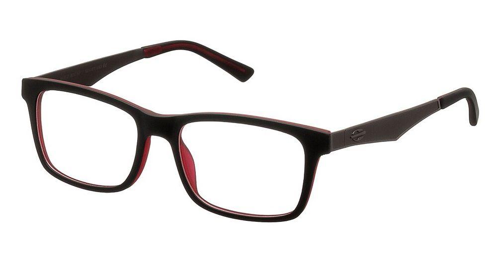 Armação Para Oculos De Grau Mormaii M6100 M6100A0652 PRETO COM DETALHES EM VERMELHO