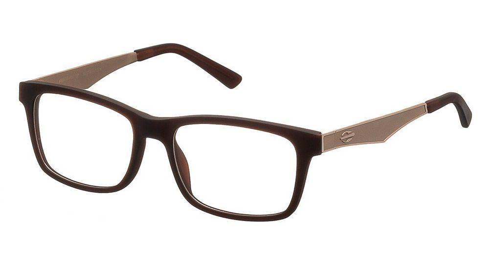 Armação Para Oculos De Grau Mormaii M6100 M6100F0352 - MARROM COM HASTES EM DOURADOS