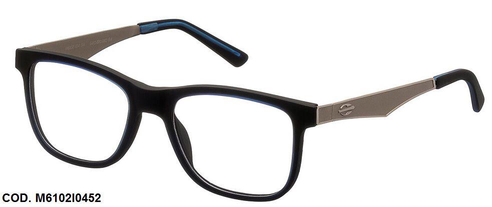Armação Para Oculos De Grau Mormaii M6102 M610210454 Preto Azul