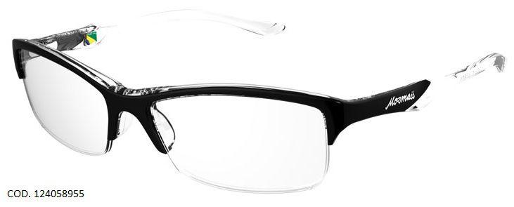 Armação Para Oculos de Grau Mormaii Malaga Cod. 124058955 Preto Transparente
