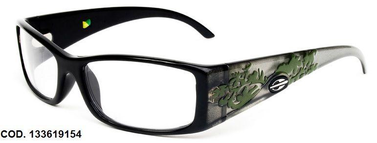 Armação Para Oculos de Grau Mormaii Shiva Eye Cod. 133619154 Preto Verde
