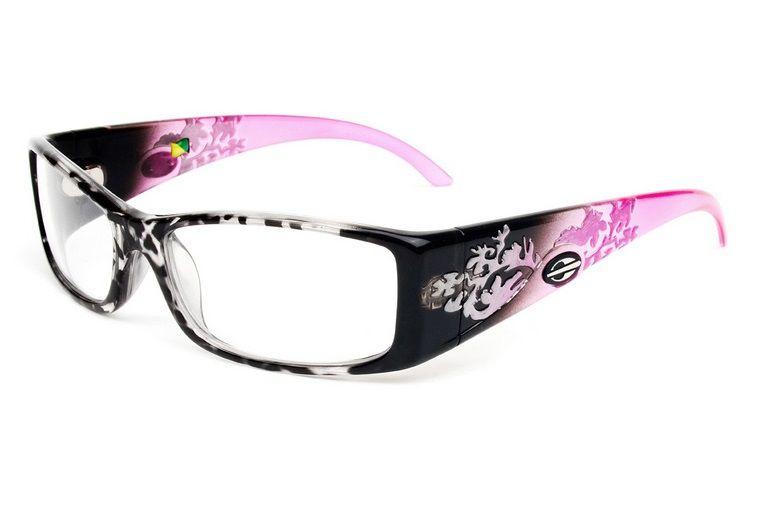 Armação Para Oculos de Grau Mormaii Shiva Eye Cod. 133619254 - PRETO COM HASTES EM ROSA