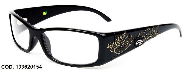 Armação Para Oculos de Grau Mormaii Shiva Eye Cod. 133620154 Preto Brilho