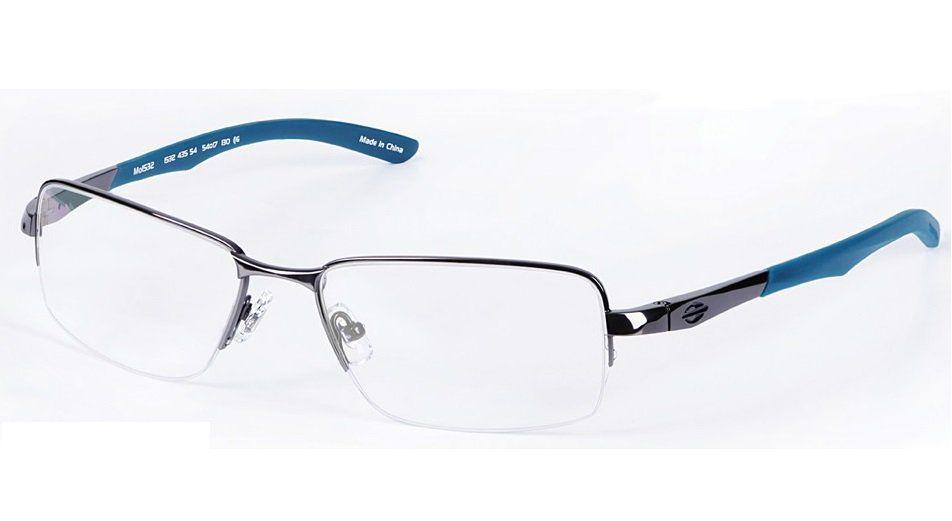 Armação Para Oculos De Grau Mormaii Titanio Mo1532 Cod. 153243554 Grafite com Azul
