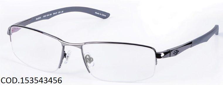 Armação Para Oculos De Grau Mormaii Titanio Mo1535 Cod. 153543456 Grafite