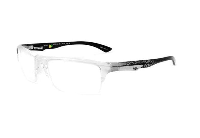 Armação Para Oculos De Grau Mormaii Ventus Cod. 127041456 - TRANSPARENTE COM HASTES EM CINZA E PRETO