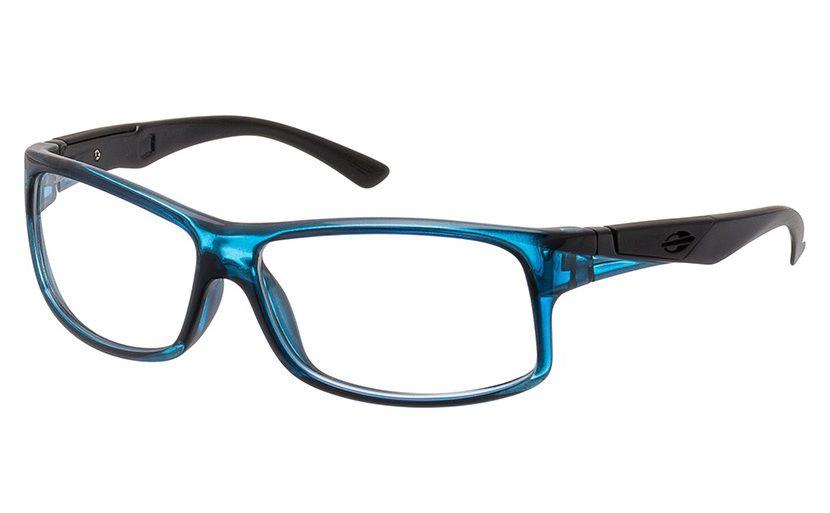 8fb2df1bc Armação Para Oculos De Grau Mormaii Vibe Cod. 112797354 - AZUL COM HASTES  EM PRETO
