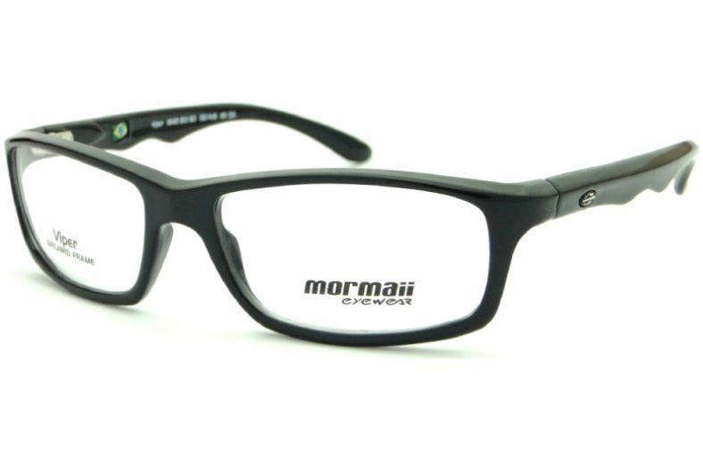 Armação Para Oculos De Grau Mormaii Viper Cod. M164221050 - PRETO BRILHO INFANTIL