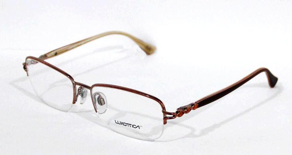 6857743de Armação Para Oculos Grau Luxottica LU2273-B T126 Bronze Marrom