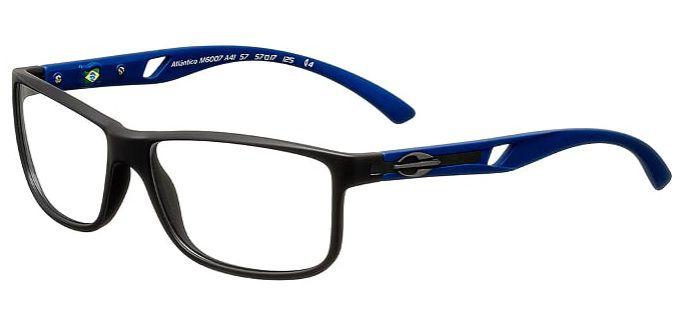 b136aff47 Armação Para Oculos Grau Mormaii Atlantico M6007A4157 Preto Fosco Azul