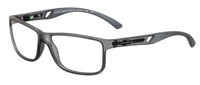 Armação Para Oculos Grau Mormaii Atlantico M6007D2257 Fumê Fosco