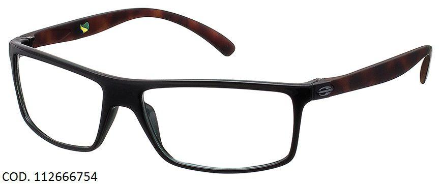 Armação Para Oculos Grau Mormaii Eclipse Full Cod. 112666754 Preto Marrom