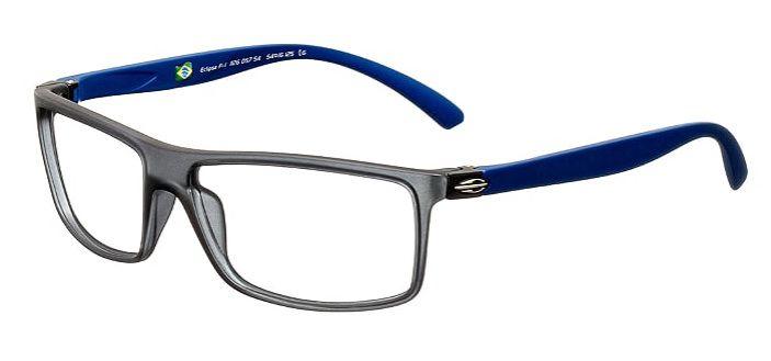 Armação Para Oculos Grau Mormaii Eclipse Full Cod. 1126D5754 Fumê Azul