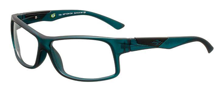 Armação Para Oculos Grau Mormaii Vibe Cod. 1127K0454 Azul Petroleo