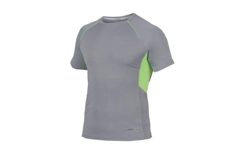 Camiseta Mormaii Masculina Manga Curta Slim Fit Proteção UV Cinza Verde S507UVSFM