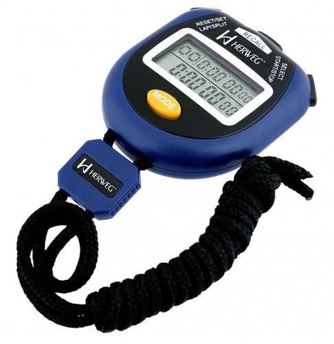 Cronômetro Herweg 8904 Alarme 99 Voltas Relógio Calendário