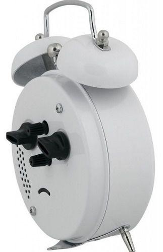 Despertador Herweg 2208 021 Branco Antigo Retrô Relógio