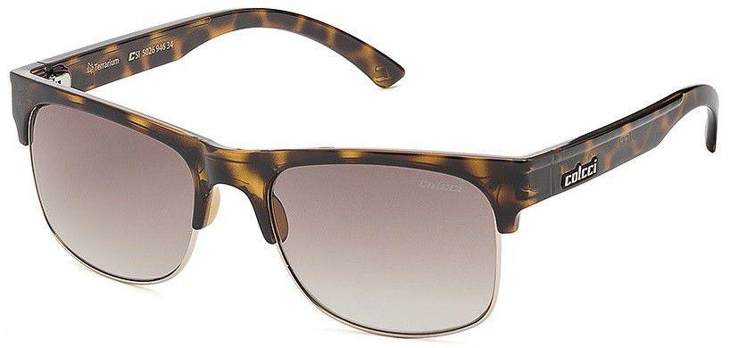 Oculos De Sol Colcci Terrarium 502694634 Marrom Demi Lente Marrom Degradê