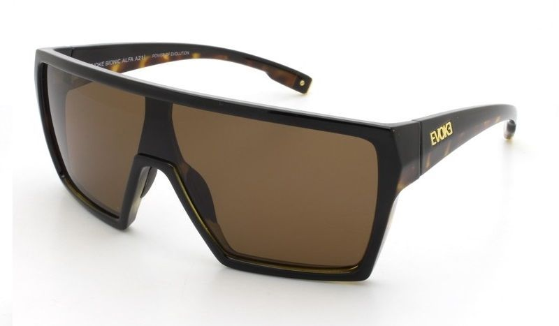 db36f1b8171b2 OCULOS DE SOL EVOKE BIONIC ALFA A21 BLACK TURTLE GOLD BROWN TOTAL ...