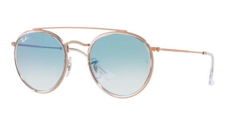 c5b9719135882 OCULOS DE SOL RAY BAN RB3647N 90683F 51MM BRONZE LENTE AZUL DEGRADË ...