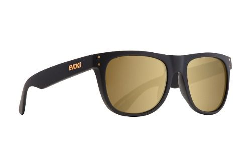 Oculos Evoke On The Rocks Black Matte Gold Gold Mirror