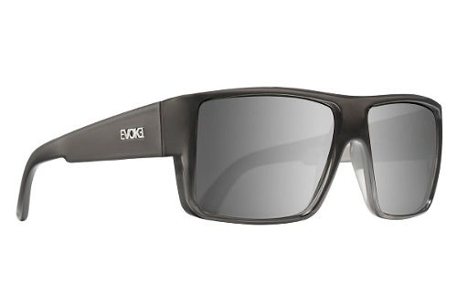 Oculos Evoke The Code Gray Crystal Shine Silver Gray Mirror