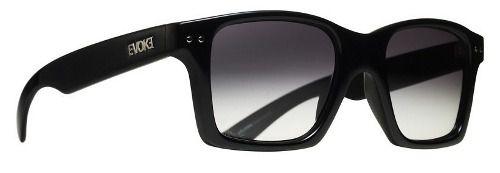 Oculos Evoke Trigger A01T Black Shine Silver Gray Gradient