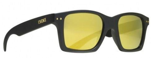 Oculos Evoke Trigger A14S Black Matte Gold Multilayer Mirror