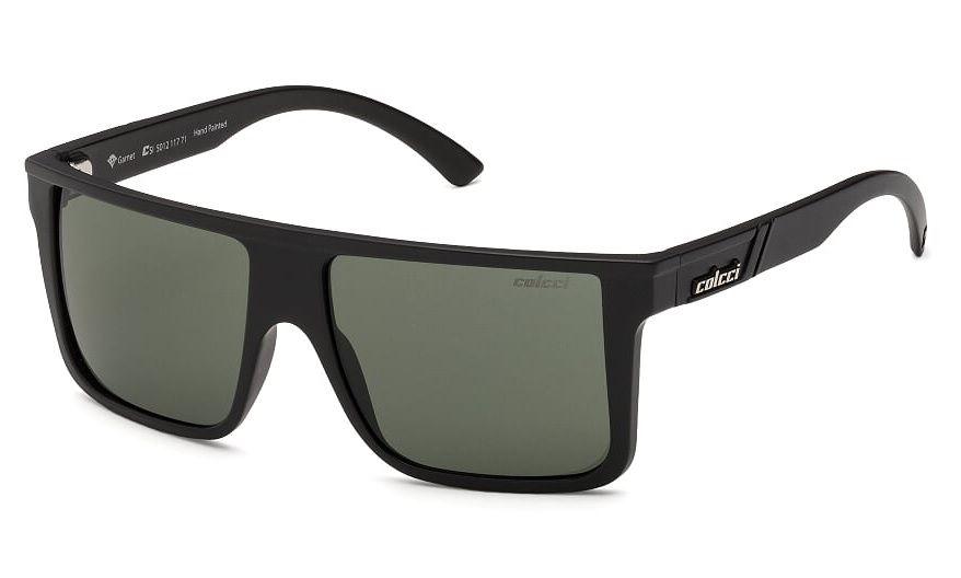 Oculos Sol Colcci Garnet 501211771 Preto Fosco Lente Verde G15