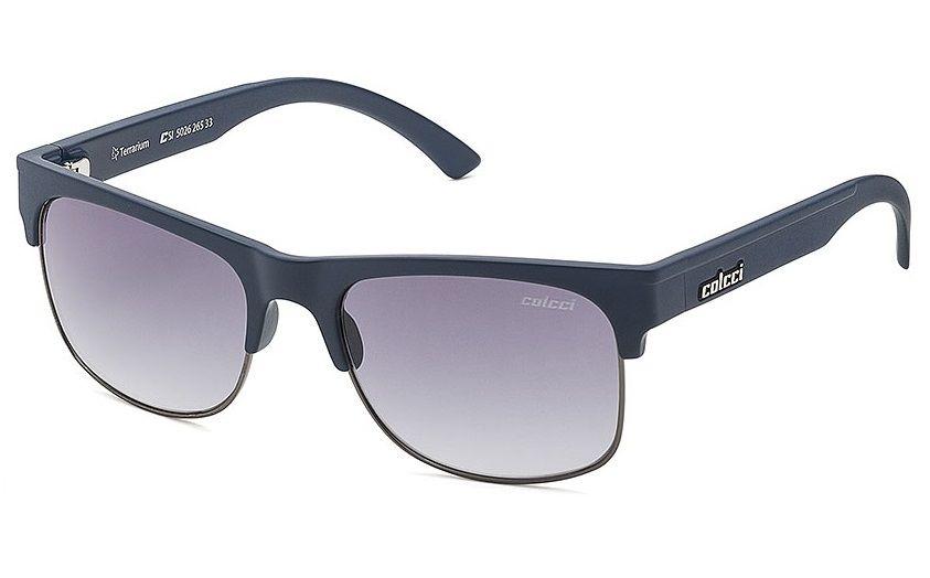 Oculos Sol Colcci Terrarium 502626533 Azul Fosco Lente Cinza Degradê