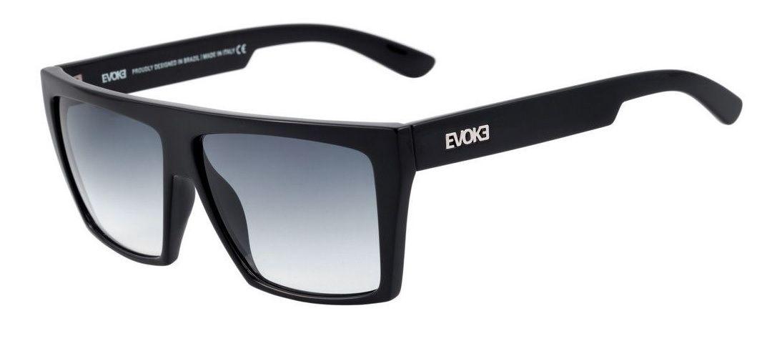 Oculos Sol Evoke Evk 15 A01 Black Shine Silver Gray Gradient