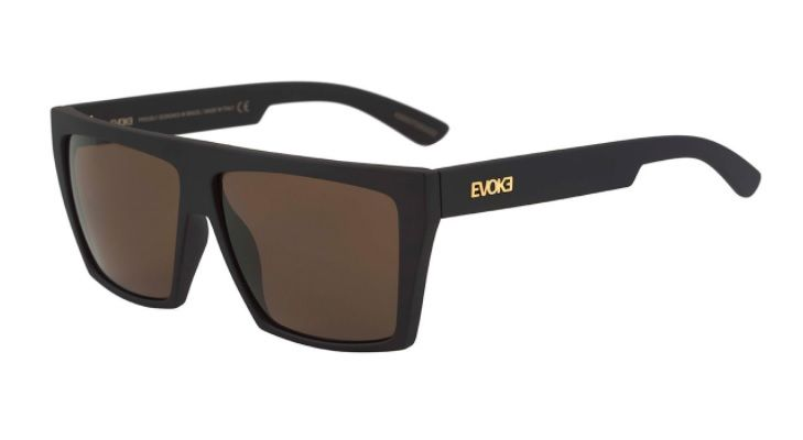 961465db15ecc Oculos Sol Evoke Evk 15 NA01G Black Matte Gold Brown Total - Loja ...