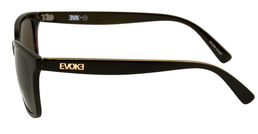 OCULOS SOL EVOKE EVK 19 A07 BLACK DEMI GOLD BROWN TOTAL - Loja ... cf6d692154