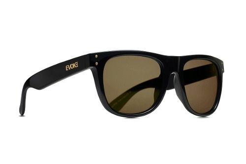 Oculos Sol Evoke On The Rocks A03 Black Shine Gold Brown Total