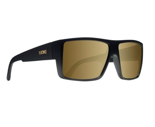 Oculos Sol Evoke The Code A01GS Black Matte Gold Gold Mirror