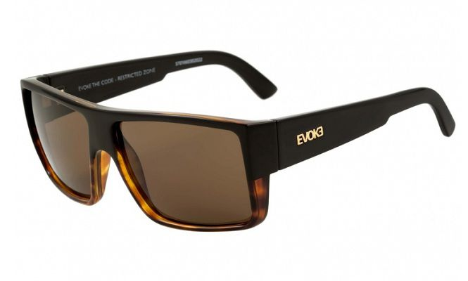 OCULOS SOL EVOKE THE CODE G21G BLACK TURTLE GOLD BROWN TOTAL