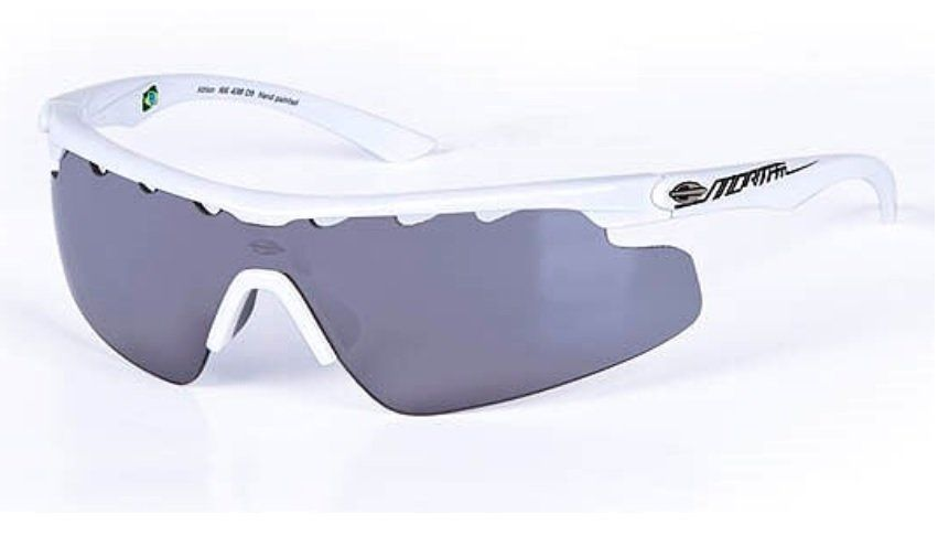 2640ad5b1b400 Oculos Sol Mormaii Athlon Com 2 Lentes 16643809 Branco Lente Cinza Flash  Prata
