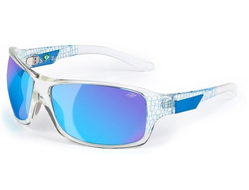Oculos Sol Mormaii Galapagos 15477312 Transparente Lente Azul Espelhada