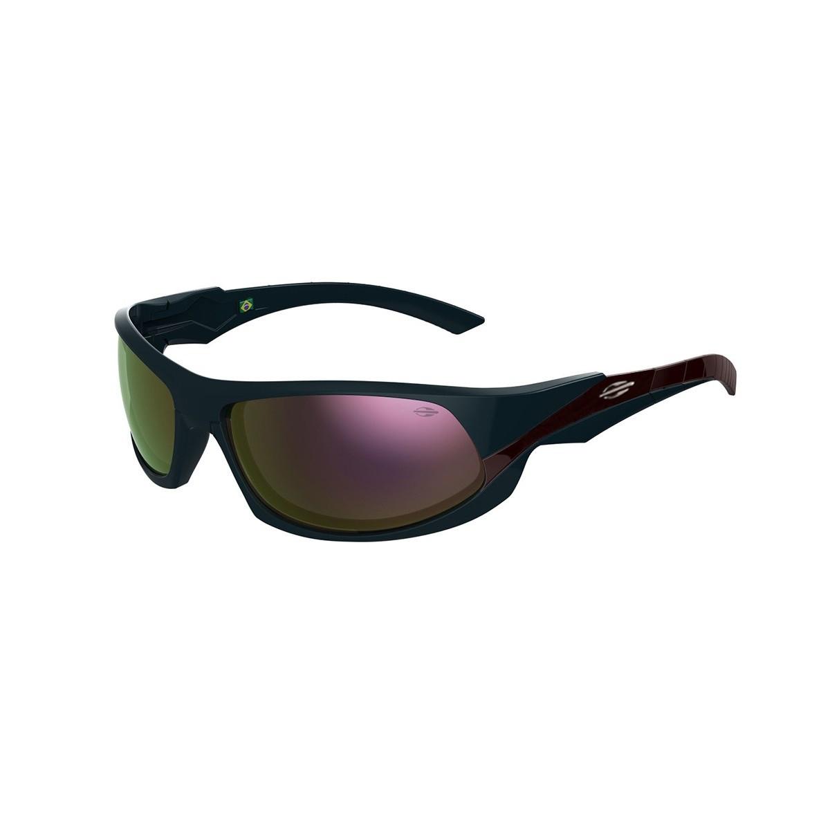 Oculos Sol Mormaii Itacare 2 41205096 Azul Petróleo Lente Dourada Espelhada