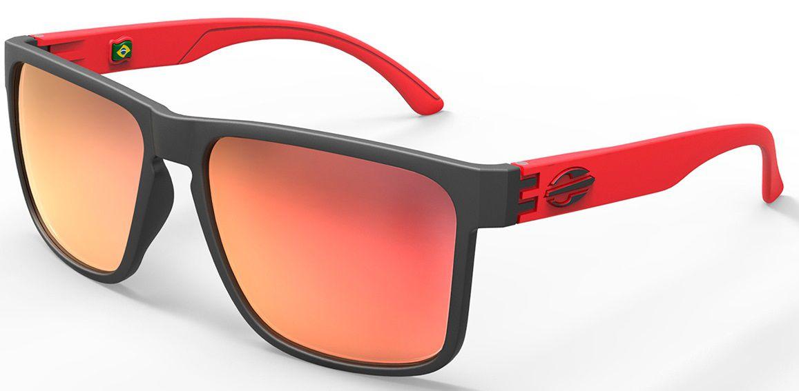 Oculos Sol Mormaii Monterey M0029a8211 Preto Fosco Vermelho