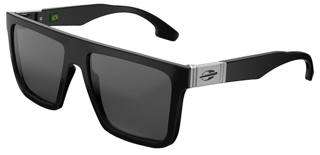Oculos Sol Mormaii San Francisco M0031a0203 Preto Brilho Lente Cinza Polarizada