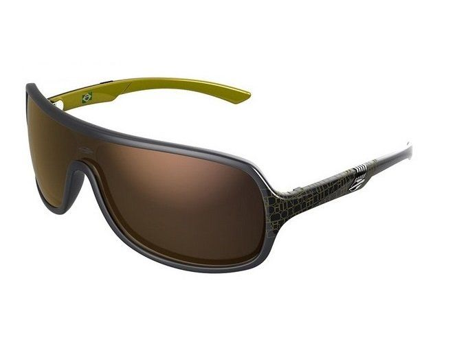 Oculos Sol Mormaii Speranto 11648396 Cinza Amarelo Lente Dourada