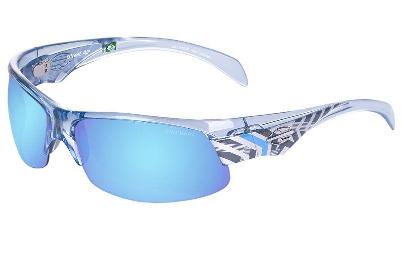 Oculos Sol Mormaii Street Air 35040312 Azul Translucido Lente Azul Espelhada