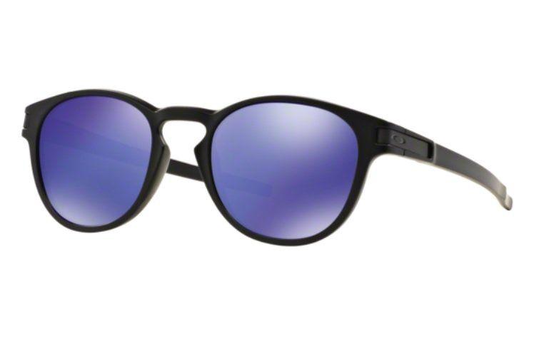 Oculos Sol Oakley Latch 9265 06 Preto Fosco Lente Violeta Espelhada ... beeb23dff23