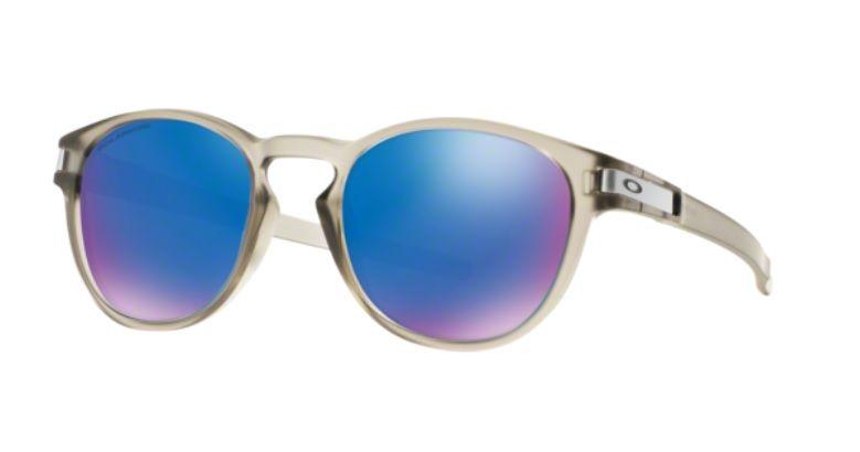 Oculos Sol Oakley Latch 9265 08 Cinza Translucido Lente Azul Espelhada  Polarizada 1cd1c6684c