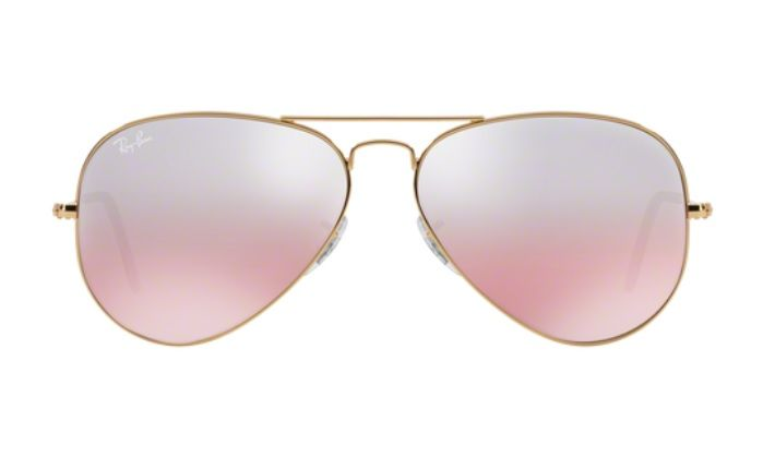 f82253875 OCULOS SOL RAY BAN AVIADOR RB3025 001 3E 62MM DOURADO LENTE ROSA DEGRADÊ
