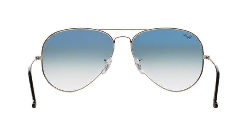 ... OCULOS SOL RAY BAN AVIADOR RB3025 003 3F 58MM PRATA LENTE AZUL DEGRADÊ 79f16107b5